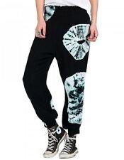 2016 NWT WOMENS VOLCOM SMOCKED UP PANT $50 S black tie dyed prints leg cuffs