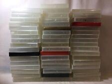 Job Lot 50 Empty VHS Cassette Cases - Mainly Clear - Vintage Storage