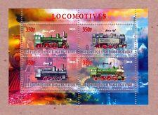 Locomotive Train - locomotora, Lokomotive MNH Minisheet of 4 q25-02