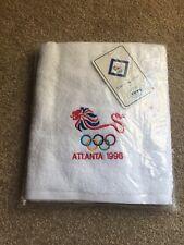More details for atlanta 1996 olympics souvenir bath towel christy official licenced team gb