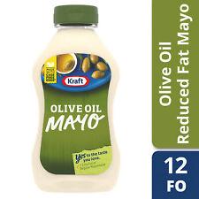 Kraft Mayo Reduced Fat Mayonnaise with Olive Oil, 12 fl oz Bottle