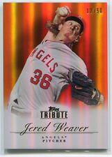 2012 Topps Tribute Orange 87 Jered Weaver 12/50