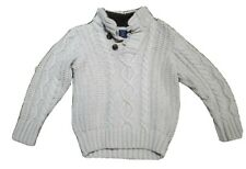 Baby Gap Boys white Chunky Cable Knit Sweater Jumper 🐯 Age 4 3-4 Years
