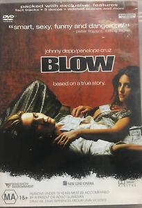 Blow (DVD, 2002) Region 4 Johnny Depp, Penelope Cruz - Based on a True Story