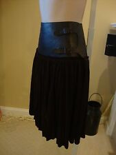 BEAUTIFUL JEAN PAUL GAULTIER BROWN SKIRT WITH LEATHER BELTED WAIST