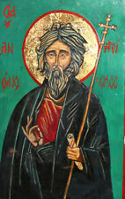 New listing Orthodox Tempera Wood Hand Painted Icon Saint Andrew