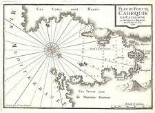Antique map, Plan du Port de Cadequie en Catalogne