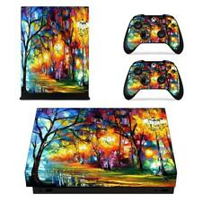 Oil Paintings Van gogh Xbox one X Console Vinyl Skin Decal Sticker Covers Set
