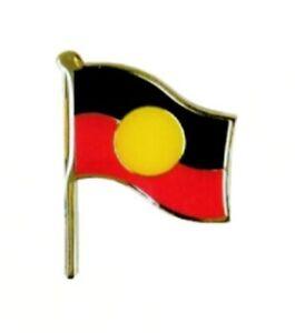 Aboriginal Flag Badge / Pin -  Aboriginal Flag on Pole - Souvenir Gift