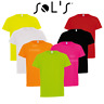 SOL'S CHILDREN'S SPORT T-SHIRT TOP NEON COLOURS BOYS GIRLS BREATHABLE SUMMER PE