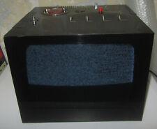 VINTAGE 1969 TELEVISION BRIONVEGA BLACK CUBE ST201 U RED KNOBS MOMA SPACE AGE