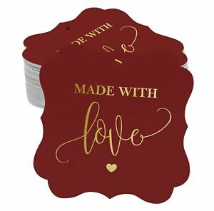 Hang Tags Made With Love Wedding Favor Gift Tags Real Foil Tag-SH6_5BG