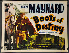 "BOOTS OF DESTINY 1937 ORIGINAL 22X28 ""B"" MOVIE POSTER KEN MAYNARD CLAUDIA DELL"