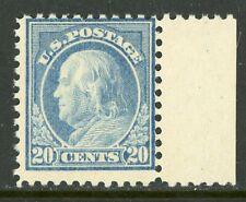 USA 1917 Franklin 20¢ Ultramarine Perf 11 Flat Pl Unwmk Scott 515 MNH A954