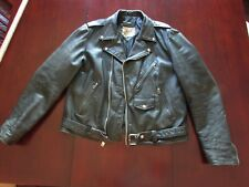 VINTAGE Berman's Mens Cafe Racer Motorcycle leather jacket Size 48 XL  STYL 1336