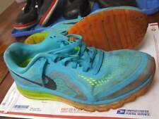 Nike Air Max 2014 Athletic Running Shoes Men's Size 13 Turquoise Blue 621077 407