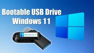 Windows 11 Pro & Home 32/64 Bit Bootable Installation USB flash drive 16GB