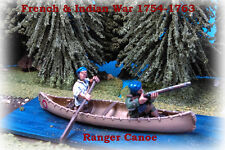 French & Indian War - Briish Rangers Canoe with 2 x figures