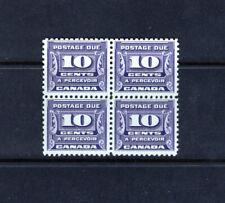 Canada J14 F-VF NH postage due block, CV $230