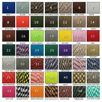 Paracord 550 - Type III - 7 strands - 215 colors available - Colors 1-->49