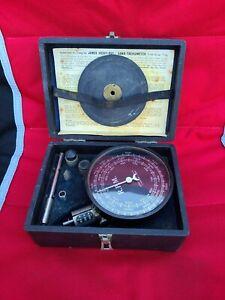 Vintage JONES Hand Tachometer Complete KIT with Original Case+Instructions WOW!
