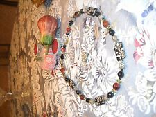 Exquisite Handmade Beaded Necklace and Earring Set