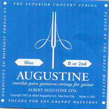 Azul B2 2er Set Konzert Guitarra Acordes Augustine High Tension Cuerdas de Nylon