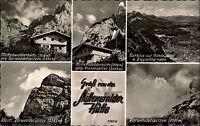 MITTENWALD Mittenwalder Hütte Alpenverein Bayern Berge Alpen 1950 AK gelaufen