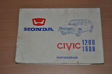 HONDA Civic 1200 1500 instruktieboek BA Bedienungsanleitung Betriebsanleitung