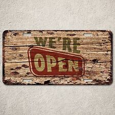 LP0131 Store Open Close Sign Auto License Plate Rust Vintage Home Decor Sign