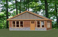 28x32 House -- 2 Bedroom 1 Bath -- 896 sq ft -- PDF Floor Plan -- Model 3M