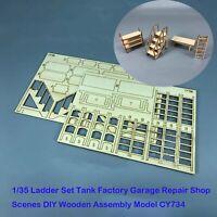 DIY Model Wooden Kit Part for 1/35 Ladder Tank Factory Garage Repair Shop Scenes