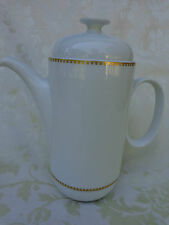 VINTAGE ROSENTHAL COFFEE OR TEA POT, GOLD TRIM 9.25""