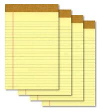 "(4) 5""x8"" 50 Sheet Yellow Writing Paper Note Pads - New"