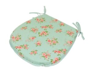 Country Rose D-Shaped Garden/Patio/Kitchen/Dining Tie-On seat pads *3 Sizes*