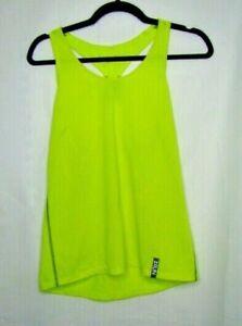 Under Armour Women's Shirt Racerback Tank Top Size XS Neon Green Running  PP8