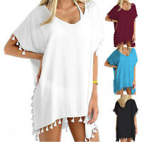 Women Beachwear Swimwear Bikini Beach Wear Cover Up Tassel Ladies Summer Dress