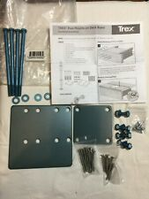 Trex Post Mounts on Deck Board Hardware Kit SKU 652835045932 WITHOUT POST