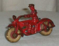 Vintage Hubley Cast Iron Cop Motorcycle W/Sidecar