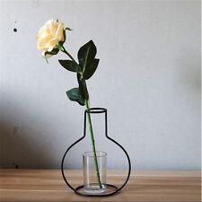 15cm Iron Wire Black Metal Flower Plant Vase Pot Stand Holder Home DIY #2