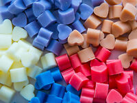 50 HIGHLY SCENTED MINI SOY WAX MELTS FOR OIL BURNER - MANY FRAGRANCES - FREE P&P