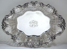 Howard Co. New York Sterling Silver Reticulated Floral Motif Basket Circa 1900