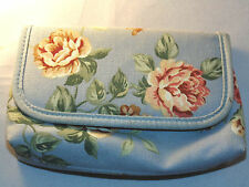 Women's Blue Cosmetic Bag with Mirror
