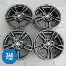 "GENUINE BMW 3 4 SERIES 18"" 400 M 5 DOUBLE SPOKE SPORT FERRIC GREY ALLOY WHEELS"