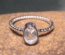 925 sterling silver everyday rock quartz ring UK M½/US 6.5. Gift bag.