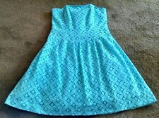 LILLY PULITZER Shorely Blue CAITLIN Strapless Lace Dress NWT Size 8 $238