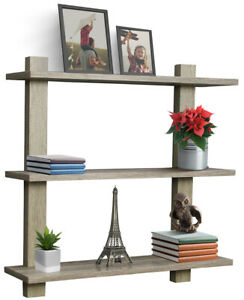 Sorbus Floating Shelf, Asymmetric Square Wall Shelf, Decorative Hanging Display