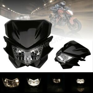 Universal Head Light Fairing Motorcycle Dual Sport Lamp For Street Fighter Dirt