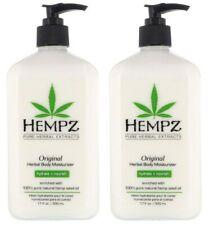 Hempz ORIGINAL Herbal Body Moisturizer Lotion 17 oz - 2 Bottles