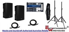 2 x Mackie THUMP15A2 + Soundcraft UI12 + 2 x Stands with Bag + 2 x 10mtr Cables